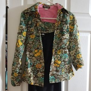 Vintage Tracy Feith floral button up